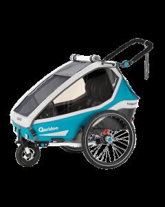 QERIDOO 2020 KIDGOO 2 - Kindersportwagen für Fahrrad