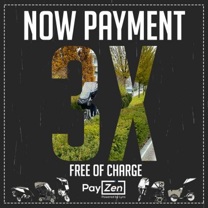 PAYMENT IN 3 INSTALLMENTS FREE OF CHARGE