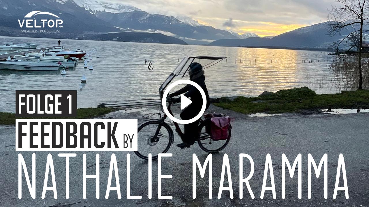 """FEEDBACK Folge 1 - """"Der Regenschutz für das Fahrrad hat meine täglichen Gewohnheiten verändert"""""""