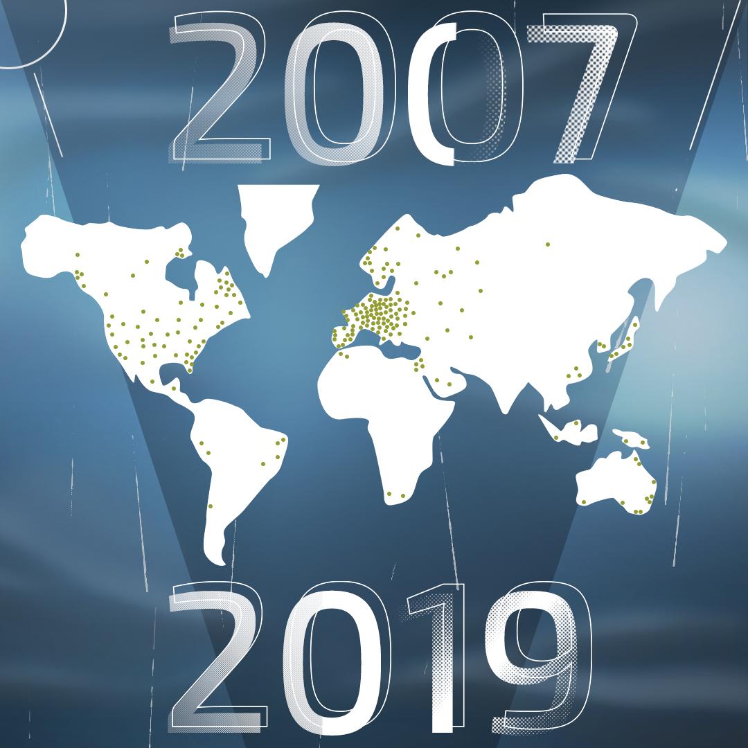 DAL 2007 VELTOP È PRESENTE IN PIÙ DI 30 PAESI